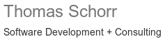 Thomas Schorr Software Development + Consulting